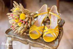 chaussures jaunes