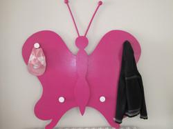porte manteaux papillon
