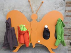 porte manteaux orange pop