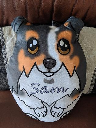 Custom Shetland Sheepdog plush pillow (sheltie)