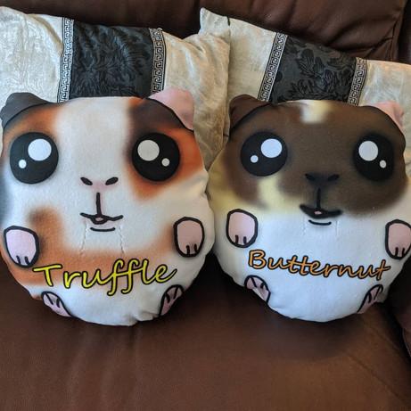 custom-made Guinea pig plush pillows