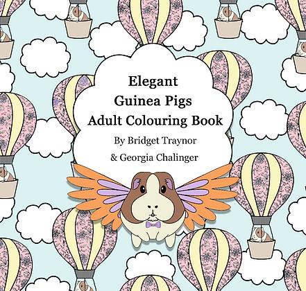 Elegant Guinea Pigs: Adult Colouring book