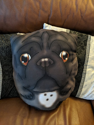 Custom Pug Plush pillow
