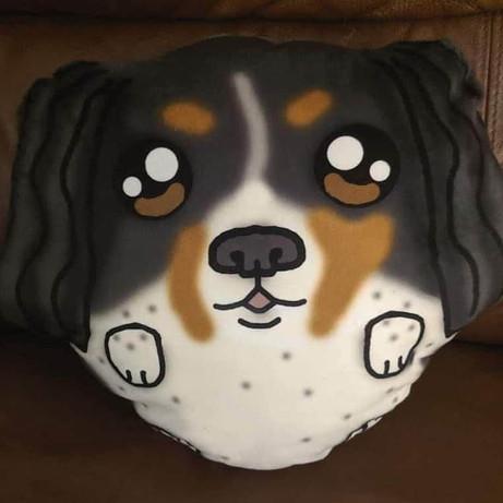 Custom made king charles spaniel plush pillow