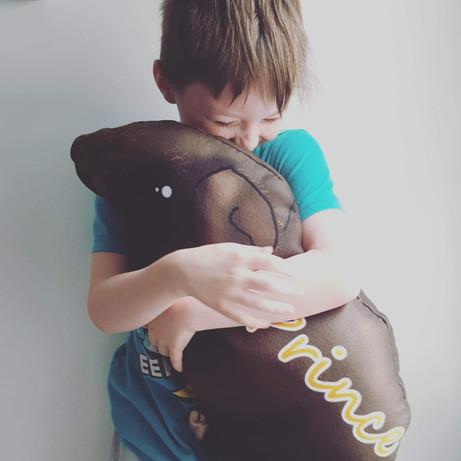 Custom made skinny pig plush pillow