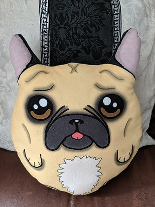 Fawn french bulldog plush pillow (small)