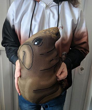 Gold skinny pig plush pillow (medium)