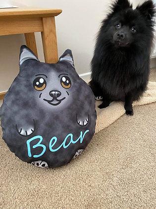 Custom Pomeranian plush pillow