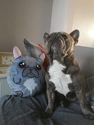 Custom french bulldog plush pillow