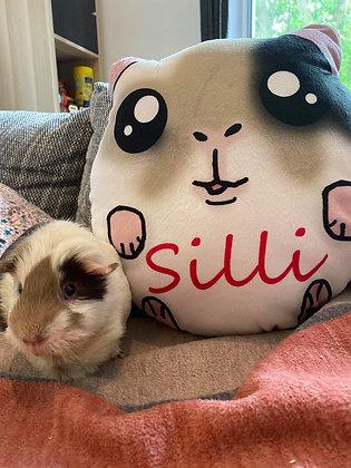 Custom made Guinea pig Plush pillows.