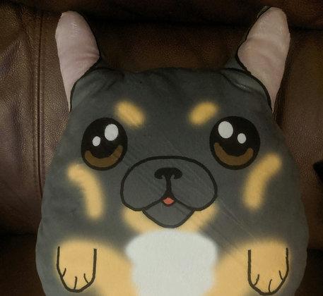 Blue tan  french bulldog plush pillow (small)