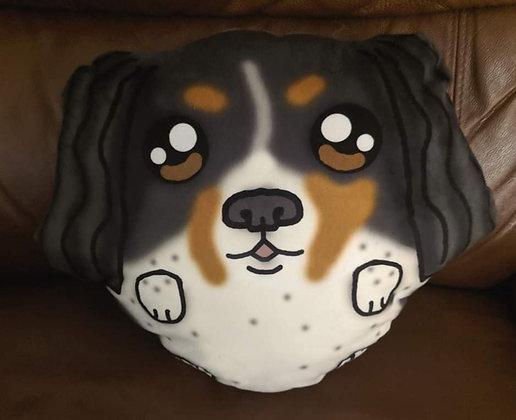 Custom Spaniel dog plush pillow