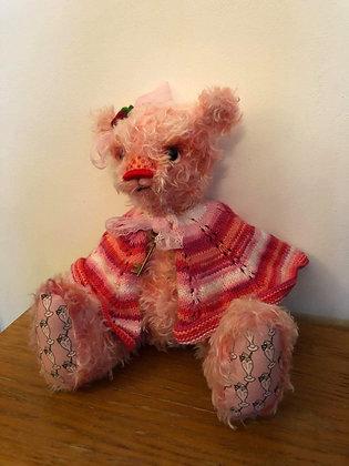 Strawberry milkshake OOAK bear