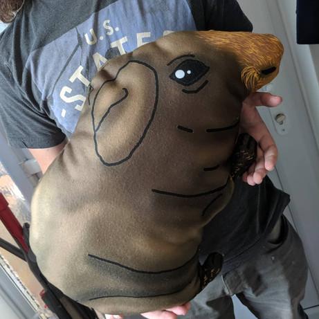 Custom-made guinea pig plush pillow