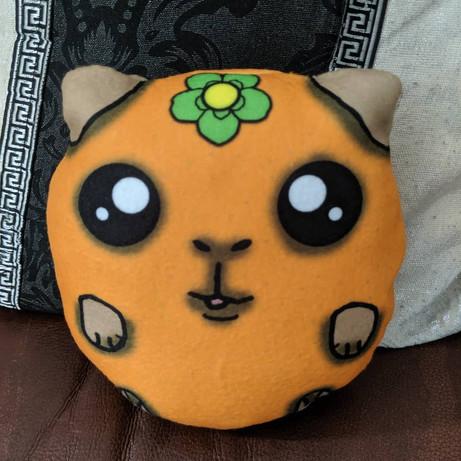 Orange fruit guinea pig plush pillow