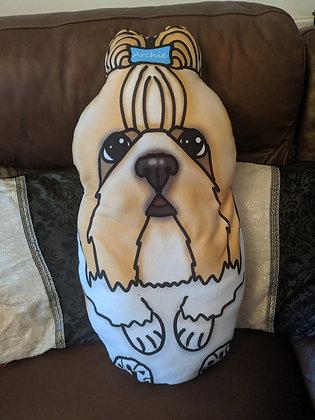 Custom made shih tzu plush pillow
