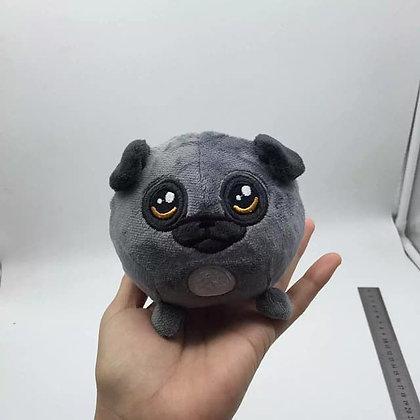 Elegant black pug plush doll slow rising