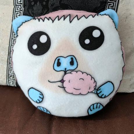 Cotton candy Hedgehog plush pillow
