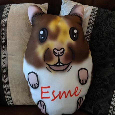 Custom-made hamster plush pillow