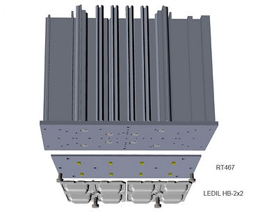 """Демо-комплект для промышленного освещения """"Светодиодный модуль RT467 + линза 2х2"""""""