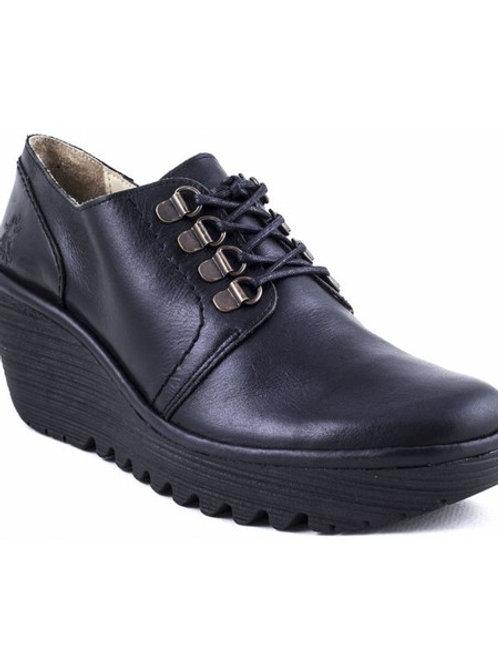 YILL RUG BLACK Zapato de cuña FLY LONDON ZARAGOZA