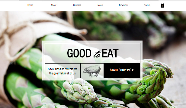 Food & Drinks website templates – Gourmet Food Shop