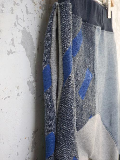 Rain pocket jeans with blue print