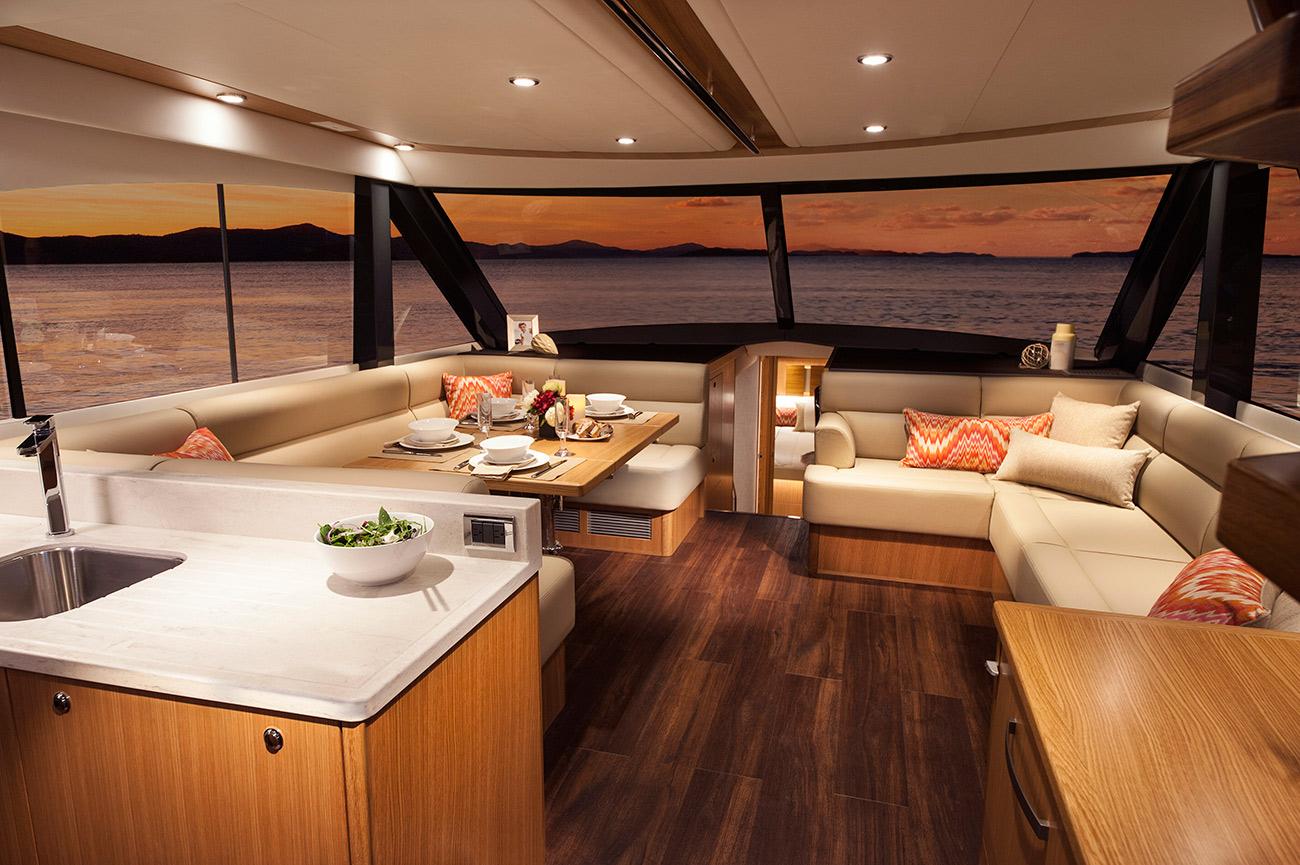 Riviera 57 Enclosed Flybridge Salon