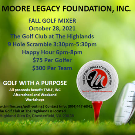 FALL GOLF MIXER  (GOLF WITH A PURPOSE)