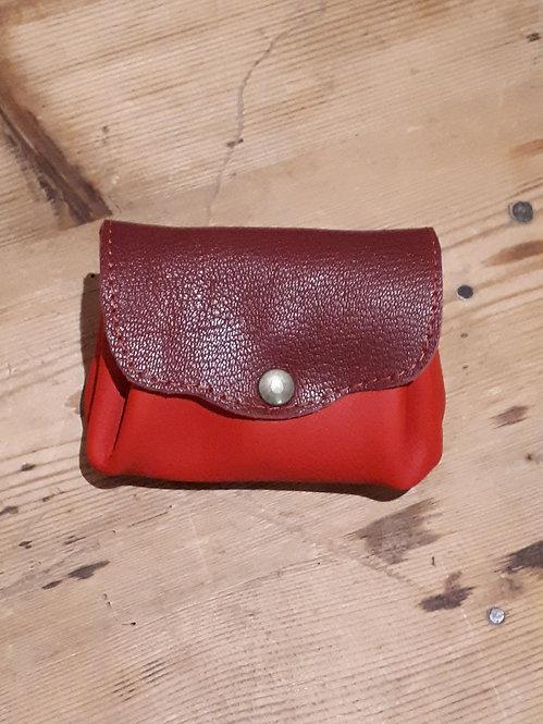 Porte monnaie rouge et bordeaux