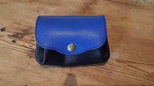 Porte monnaie noir et bleu