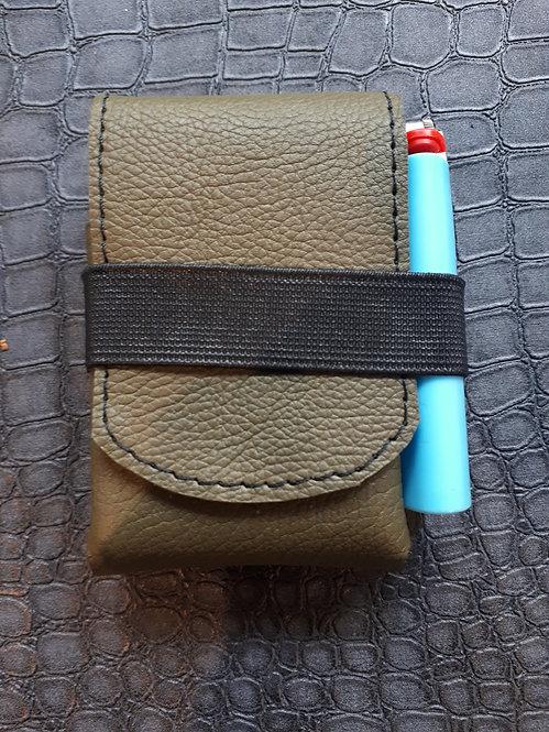 Etui pour paquet de cigarettes kaki