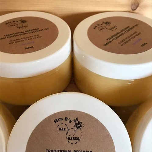 Beeswax Wood Polish With Coconut Oil