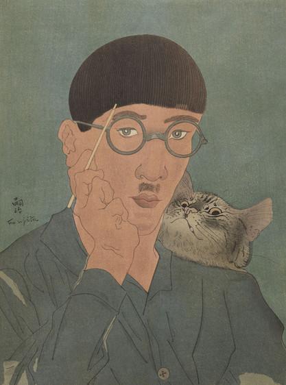 自畫像與貓
