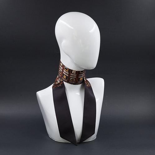 Foulard Scalda collo in pura seta nera