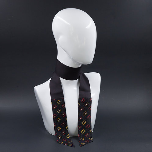 Foulard Scalda collo in pura seta nero