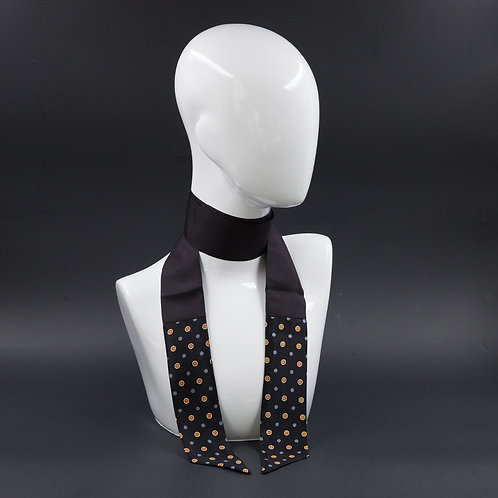 Foulard nero Scalda collo in pura seta
