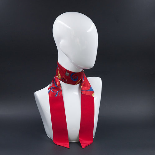 Foulard Scalda collo in pura seta rossa