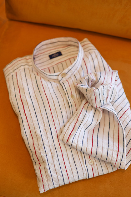 Italian Linen Striped Shirt