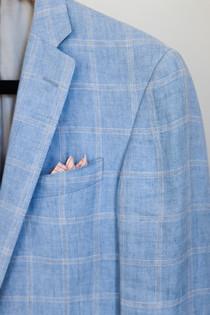 Powder Blue Linen Jacket