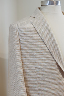 Beige Unconstructed Shirt Jacket