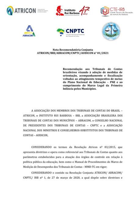 Monitoramento do PNE e Busca Ativa são recomendações de instituições de controle externo.