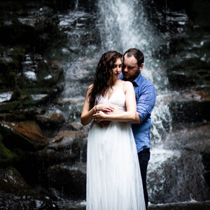 Coral + Kyle: Engagement Session at Ricketts Glen