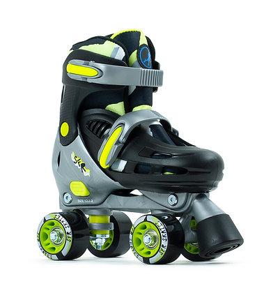 Sfr Hurricane lll Adjustable Quad Skates - Black/Yellow