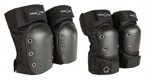 Pro-Tec Pads Knee/Elbow Pad Set - Black