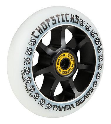 Chopstick Panda Bear Wheel 100mm - White
