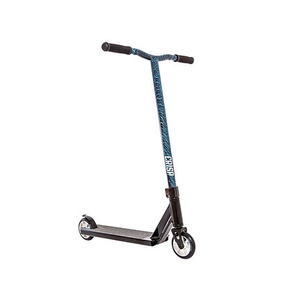 Crisp Blaster Stunt Scooter - Black/Blue Cracking