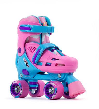 Sfr Hurricane lll Adjustable Quad Skates - Blue/Pink