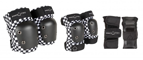 Pro-Tec Street Gear Junior 3-Pack Pad Set YS Youth - Checker