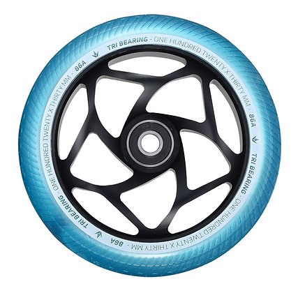 Blunt Envy Tri Bearing Wheel 120mm x 30mm - Black/Teal